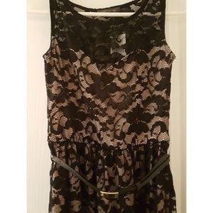 Suzy Shier Dresses - BNWT Suzy Shier lace, black + nude dress XS